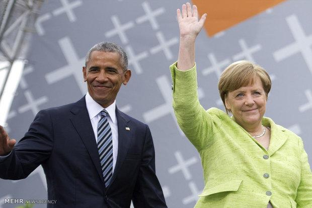 اوباما در برلین سخنرانی می نماید