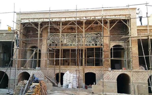 پیشرفت 75 درصدی مرمت خانه تاریخی معبودی تبریز