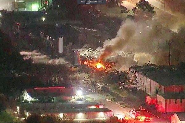 وقوع انفجار مهیب در تگزاس آمریکا