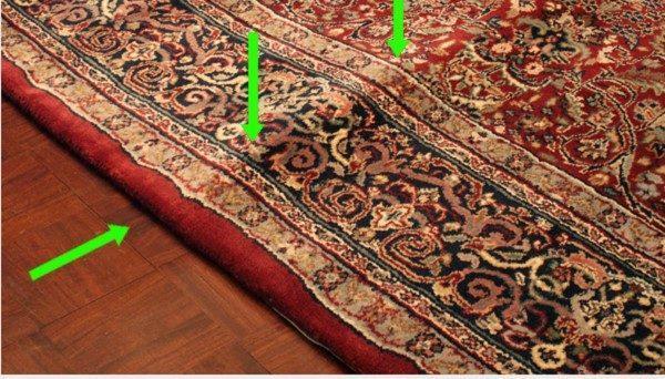 روش های رفع کردن گودی فرش