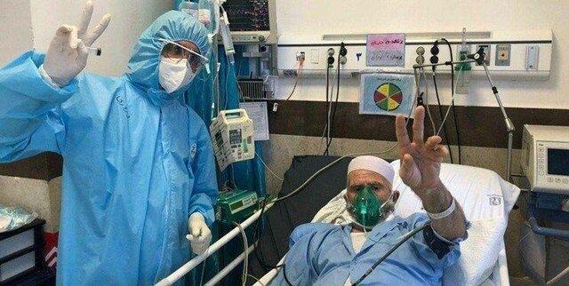 بیمار 101 ساله کرونایی در ورامین پس از بهبود به شهر خود بازگشت