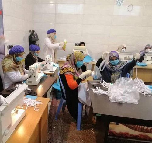 راه اندازی کارگاه تولید ماسک به همت گروه جهادی شهید طالبی