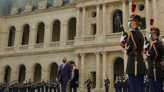 ملاقات الکاظمی با نخست وزیر فرانسه در پاریس