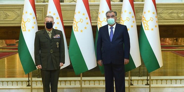افغانستان محور ملاقات فرمانده تروریست های سنتکام و رئیس جمهور تاجیکستان