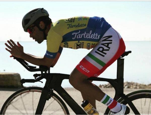 خطر از بیخ گوش ملی پوش دوچرخه سواری گذشت!