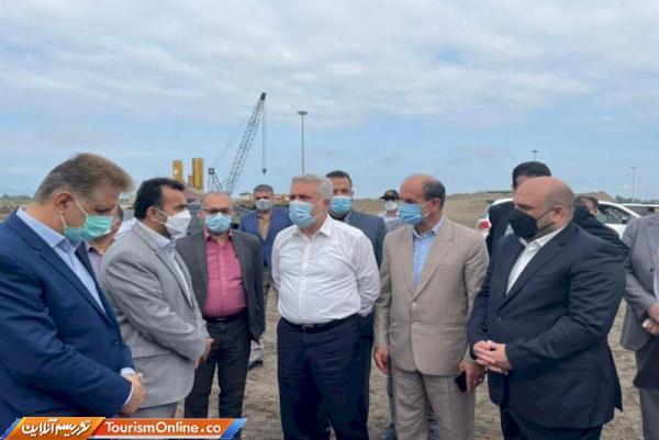 بازدید دکتر مونسان از طرح توسعه بندر مسافری دریایی چمخاله شهرستان لنگرود
