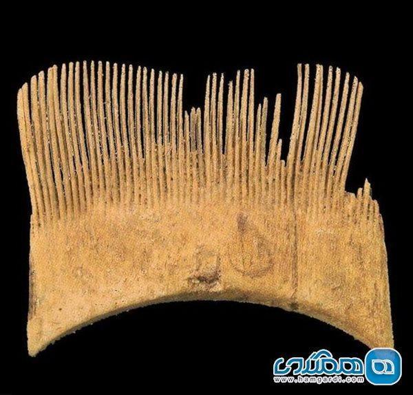 شانه ای پنج هزار ساله که در موزه ملی نگهداری می گردد